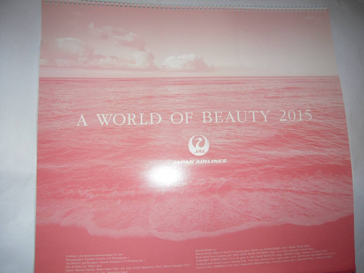 A world of beauty2015カレンダー日本航空中古