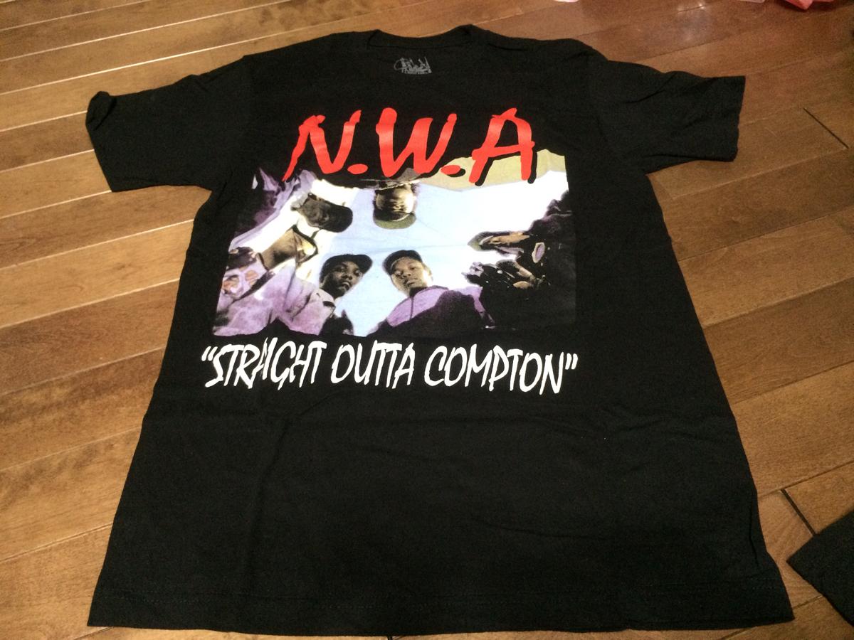 ヒップホップ hiphop NWA 映画 STRAIGHT OUTTA COMPTON dr dre Tシャツ M