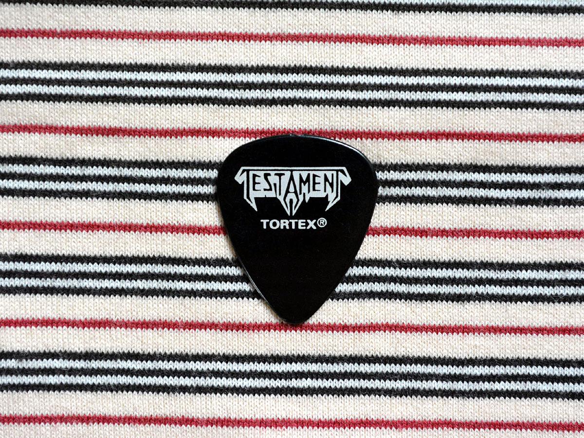 テスタメント TESTAMENT ロゴ入りギターピック TORTEX STANDARD 0.73mm ジムダンロップ Chuck's Pick JIM DUNLOP トーテックススタンダード
