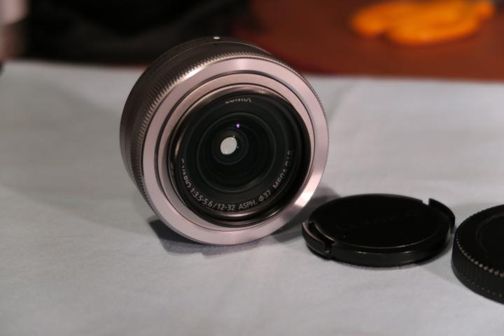 Panasonic LUMIX G VARIO 12-32mm F3.5-5.6 ASPH. MEGA O.I.S. H-FS12032-S パナソニック フィルター付 中古 美品