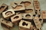 古い木製 菓子型 木型 33個まとめて 和菓子 落雁 鯛 天狗他
