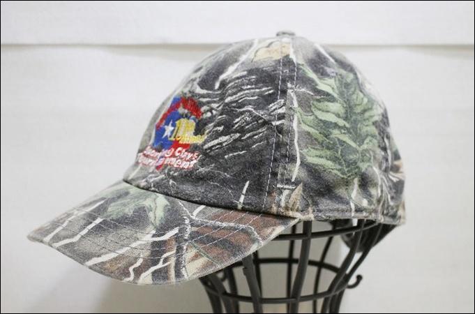 CABRF キャップ 迷彩 柄 カモフラージュ 帽子 Conoco Phillips 10th Annual ビンテージ ヴィンテージ USA 古着 オールド DB192_画像1
