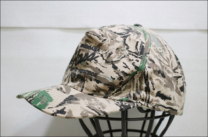 【ONE SIZE FITS ALL】 OTTO キャップ 迷彩 柄 カモフラージュ 帽子 CORSICANA ビンテージ ヴィンテージ USA 古着 オールド DB186