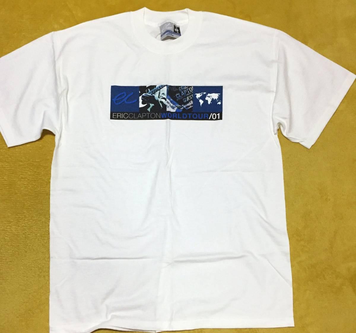 ●貴重/未着品 ERIC CLAPTON 2001ワールド・ツアー・Tシャツ クラプトン
