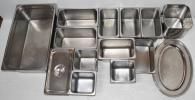 ステンレス バッド 角バッド 大皿 アイスクリーム容器 15点 セット 厨房機器 業務用 店舗 開店準備 店舗用品