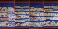 【趣】古仏画『親鸞聖人御絵伝掛軸』四幅対/仏教美術・仏像・仏画・仏具・本願寺・浄土真宗・報恩講・古画