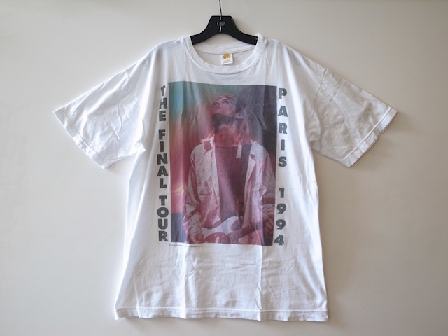 美品 ビンテージ NIRVANA PARIS 1994 THE FINAL TOUR Tシャツ カートコバーン KURT COBAIN SIZE XL