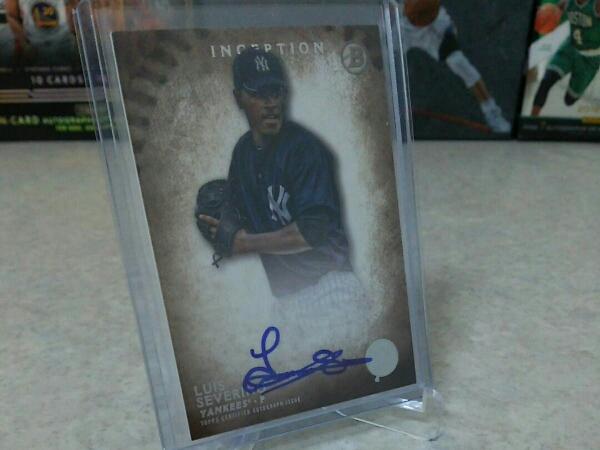 MLB ルイス セベリーノ サイン カード ニューヨーク ヤンキース グッズの画像