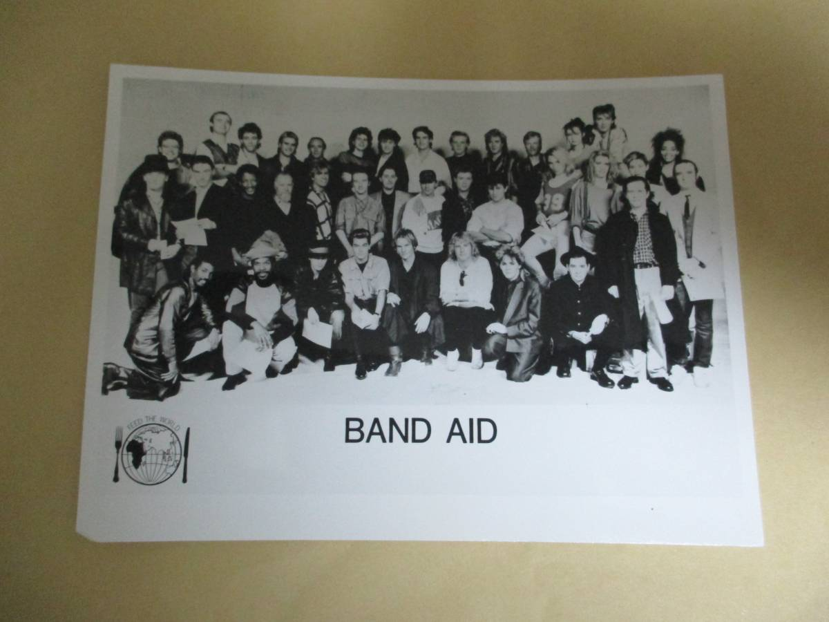 雑誌用写真  BAND AID ボブ・ゲルドフ Bob Geldof ミッジ・ユーロ Midge Ure
