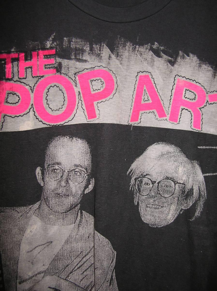 アンディー・ウオホール&キース・ヘイリング80年代デッドストックT「ポップアートヒーローズ」リペア済み希少!参考品