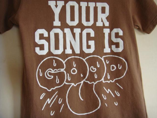 YOUR SONG IS GOOD ユアソングイズグッド 半袖Tシャツ グッドデザイン ユアソン バンド Tシャツ ロック