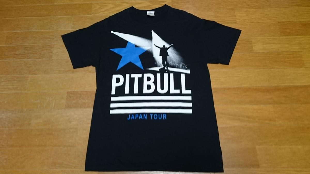 送料無料 PITBULL JAPAN TOUR 2013 Tシャツ M ピットブル ライブグッズの画像