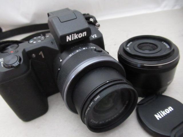 564☆Nikon/ニコン 1 V2 NIKKOR 10-30mm 3.5-5.6 VR/1 NIKKOR 18.5mm 1:1.8 ジャンク扱/カメラ/レンズ