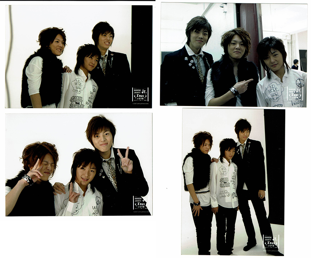室龍太 フォトセット4枚 クリスマスin松竹座2007 関西ジャニーズJr. 公式写真
