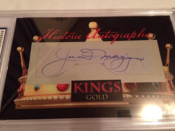 ニューヨークヤンキース ジョー・ディマジオ カット直筆サインカード 22枚限定 グッズの画像