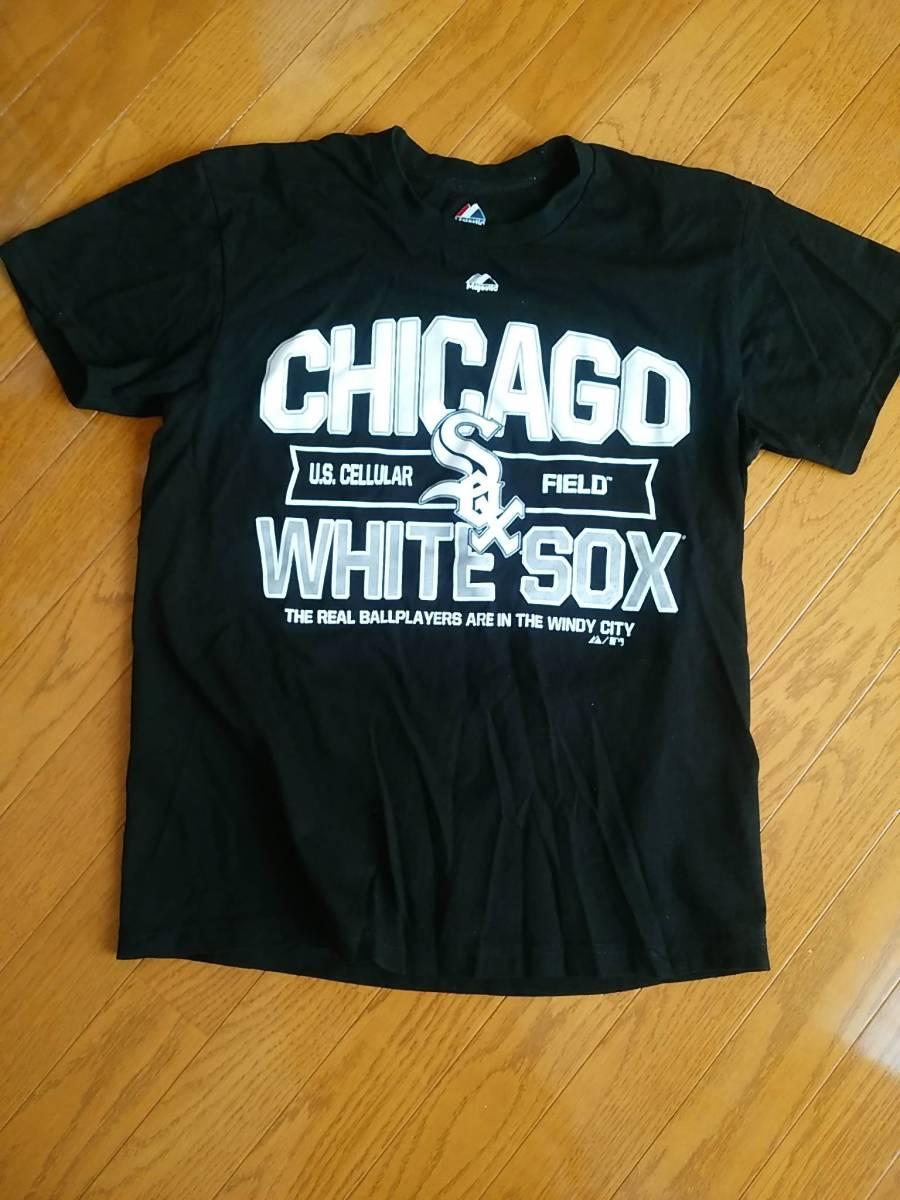 white sox ホワイトソックス nmb Tシャツ majestic マジェスティック サイズM グッズの画像