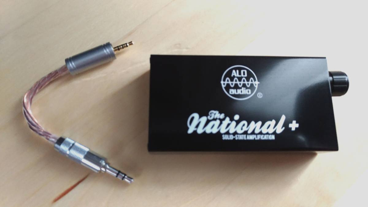 ALO Audio The National+ (2.5mm to 3.5mm ケーブル付ALO)(フルディスクリート・ポタアン)(検 JH AUDIO ASTELL fiio campfire audio)