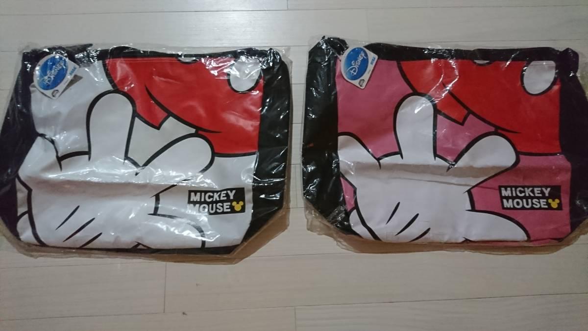 ミッキーマウス★ショルダーバッグ 2種セット★ホワイト&ピンク ディズニーグッズの画像