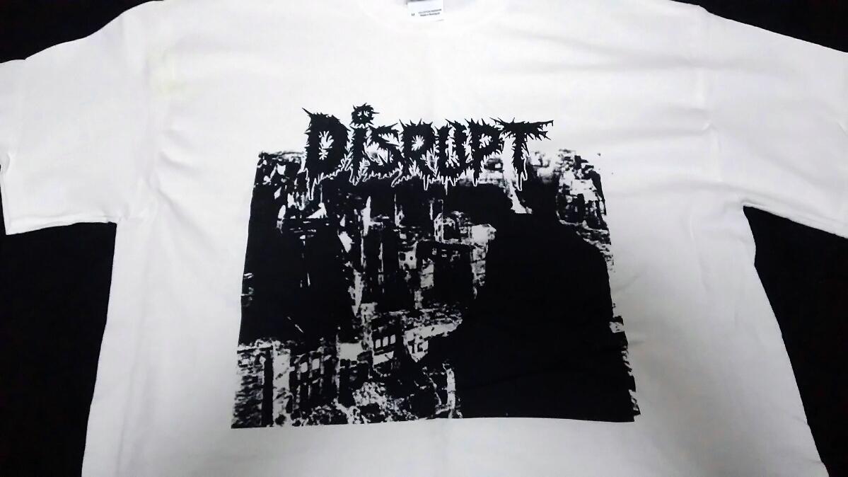 DISRUPT T シャツ Mサイズ Napalm Death Carcass Brutal Truth ナパーム デス カーカス Morbid Angel Nasum At The Gates