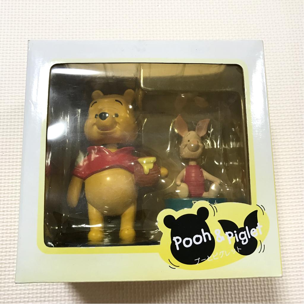 ★レア★希少★プーさん 首振り人形 ディズニー ピグレット disney pooh piglet ボビンヘッド bobblehead ディズニーグッズの画像