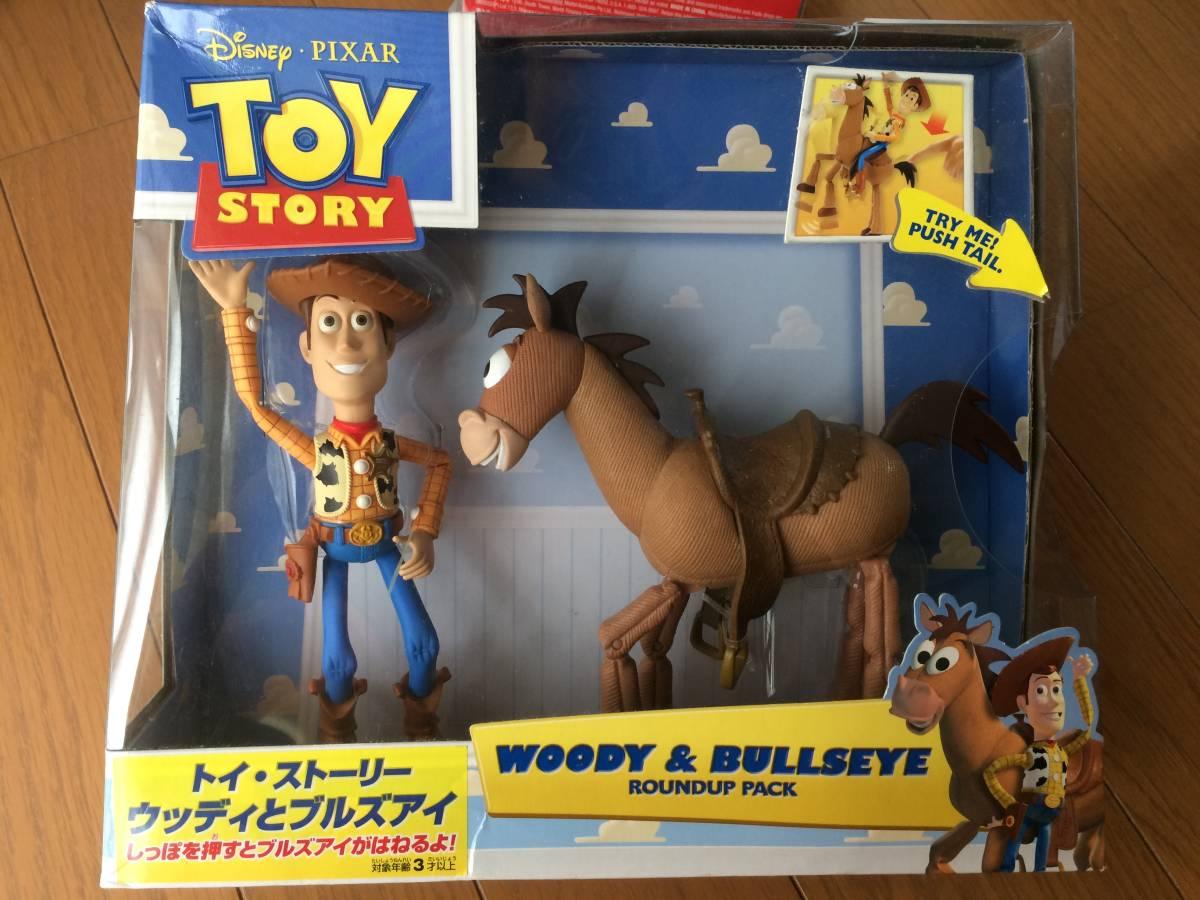ディズニー トイストーリー ウッディ ブルズアイ アクション フィギュア ディズニーグッズの画像