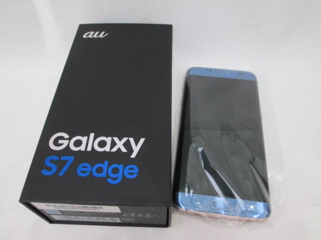 1円~★au Galaxy S7 edge 32G 判定△ ギャラクシー 未使用品 美品