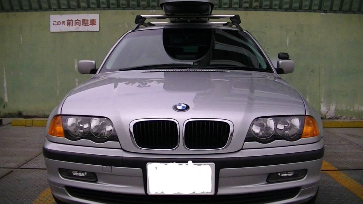 走行少な目!! H13 2001年式 BMW318Iツーリング サンルーフ・純正?ルーフボックス付き!!