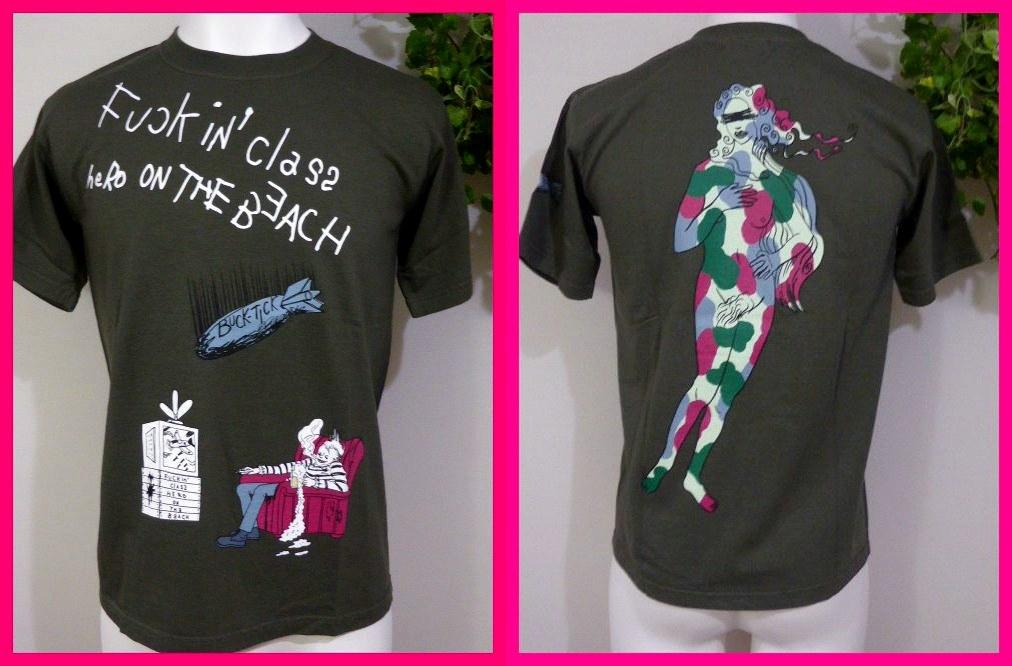 BUCK-TICK バクチク【新品Tシャツ】6・メンズM 【Fuckin' clas2 HERO ON THE BEACH】&バックカモフラヌードガール バクチク大量出品中♪