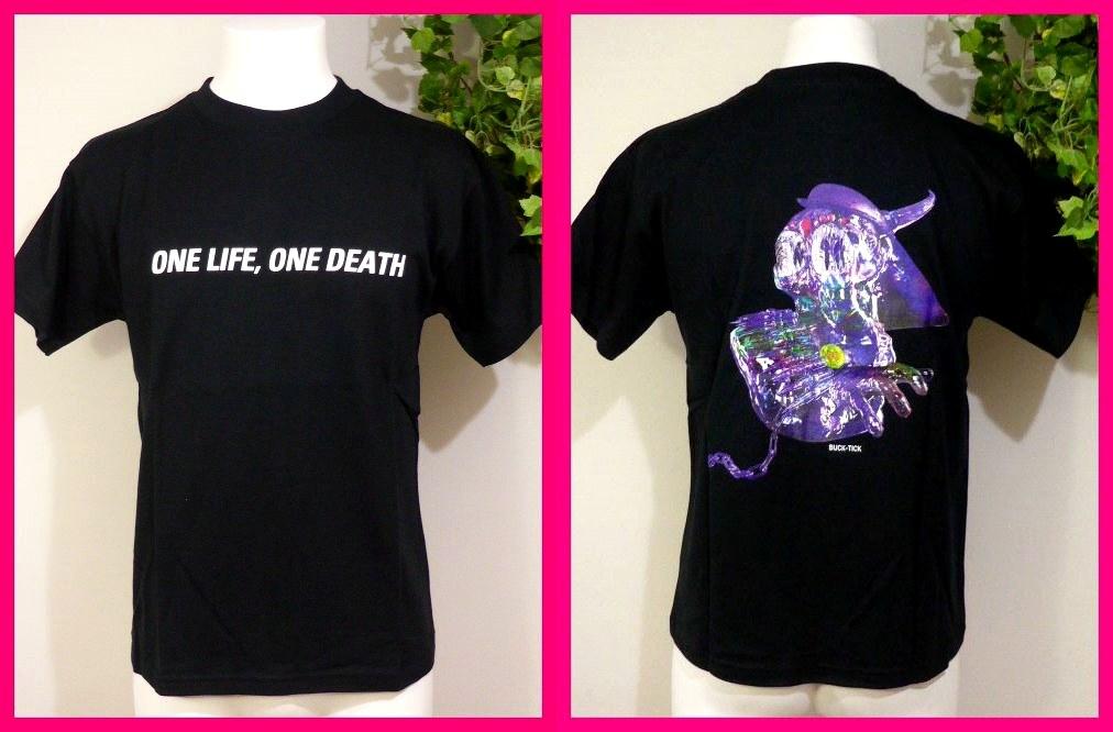 BUCK-TICK バクチク【新品Tシャツ】10・メンズM 【ONE LIFE,ONE DEATH】 アルバム & ツアーTシャツ バクチク大量出品中♪