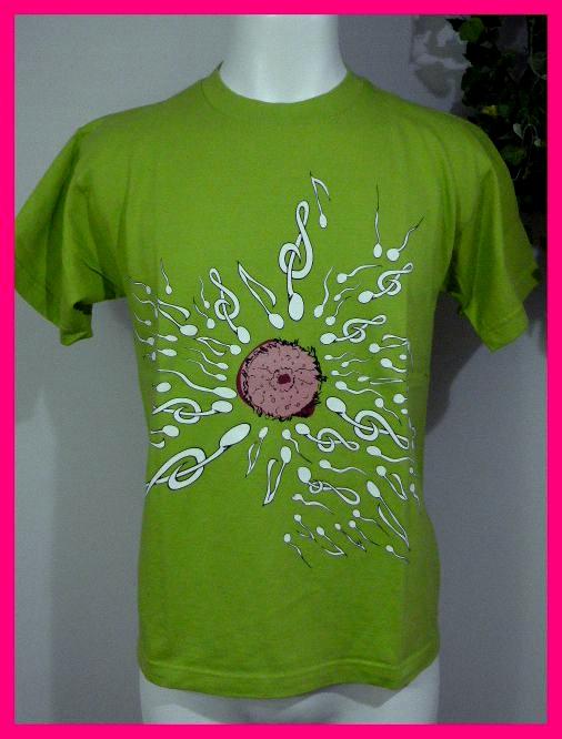 BUCK-TICK バクチク【新品Tシャツ】7・メンズM 【音符♪精子】の斬新なプリント! 【愛ノ歌LOVE】【愛ノ歌SONG】 バクチク大量出品中♪