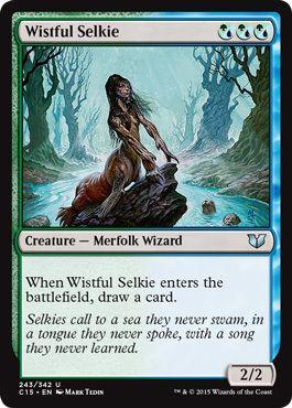 え金 悲しげなセルキー 1枚(4枚在庫s 英 良品 C15)/Wistful Selkie(MTG /統率者(2015年版)/Commander 2015/)_画像1