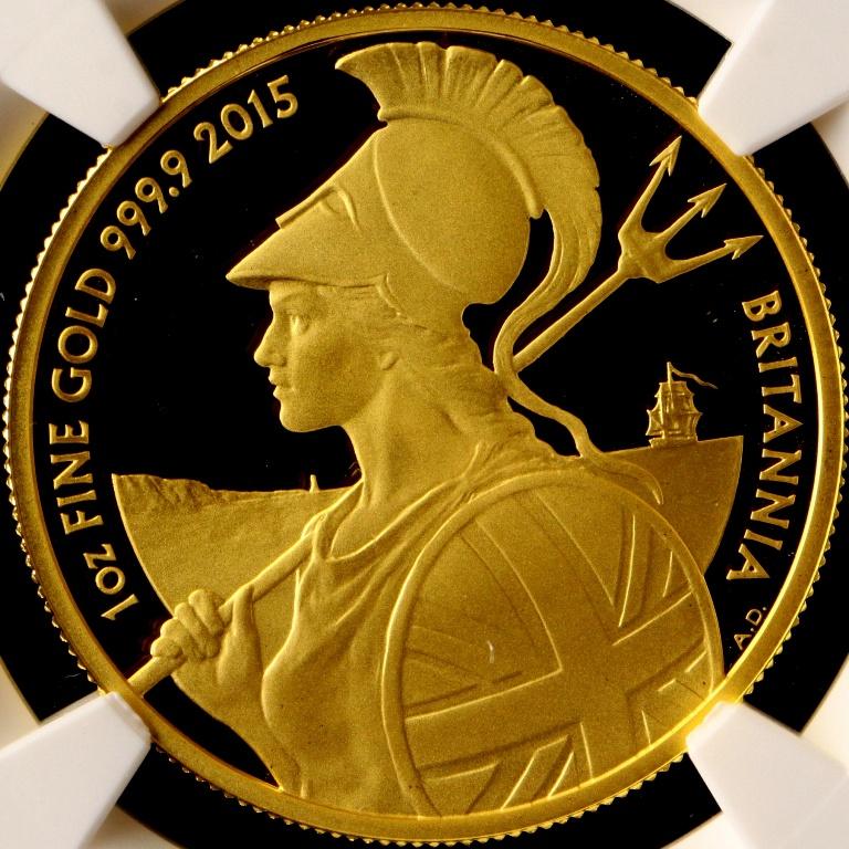 イギリス 2015 ブリタニア エリザベス2世 100ポンド 金貨 1oz NGC PF70 ULTRA CAMEO 1円