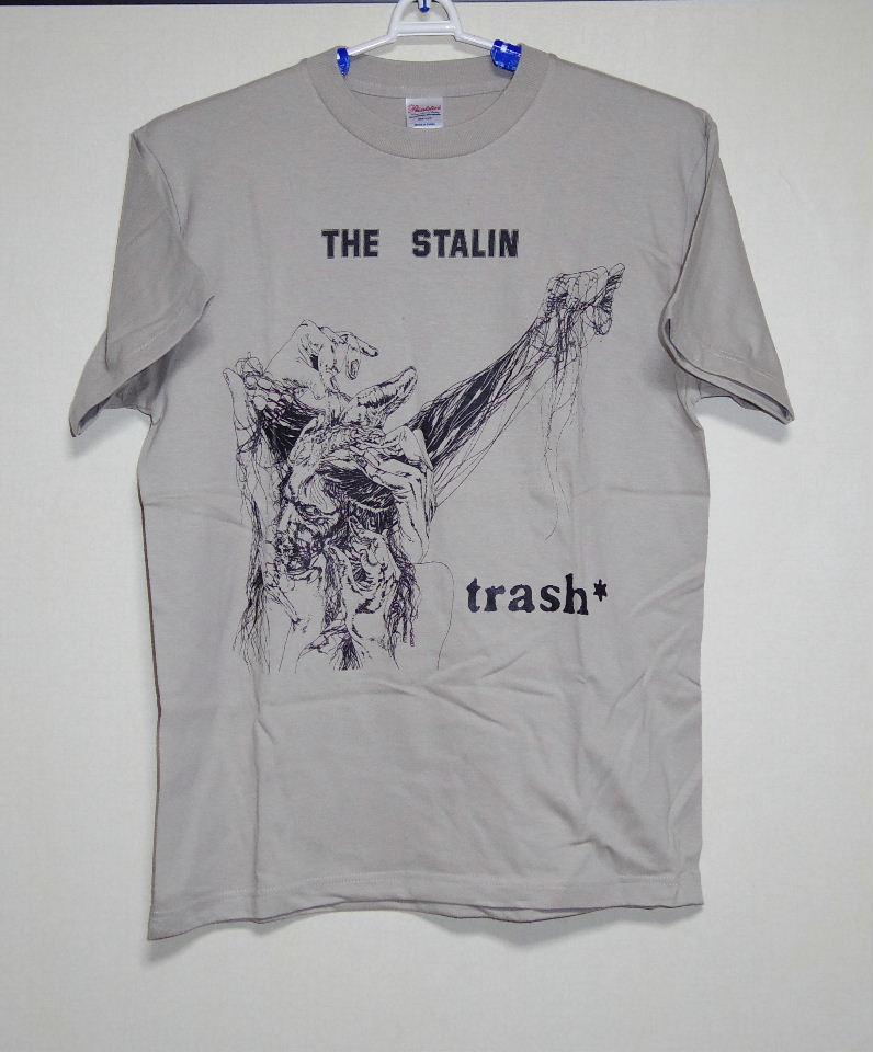 新品ザ・スターリン TRASHジャケット Tシャツ カーキMサイズ/THE STALIN 遠藤ミチロウ