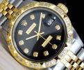 極美品 ロレックス デイトジャスト 黒 ブラックジュビリー ダイアル Black Jubilee 10P ダイヤ Ref.1601 Cal.1570 OH済 仕上げ済 ROLEX