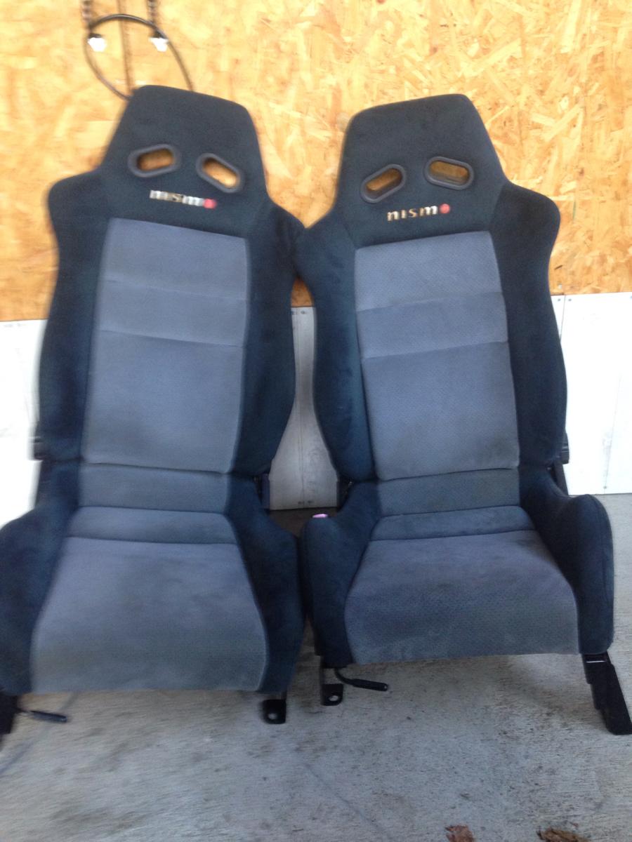 ニスモ レアな絶版 K12マーチレール 2脚セット セミバケNISMO セミバケット R32R33R34GTR BNR ブリッド レカロ