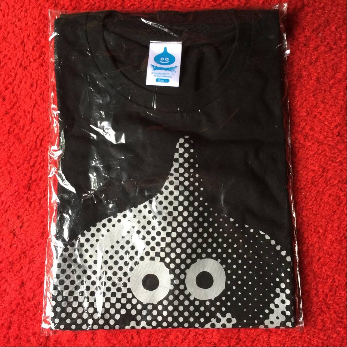 【新品未使用】ローソン ドラゴンクエスト コラボ店舗 オリジナルグッズ スライムTシャツ ブラック (Lサイズ) グッズの画像