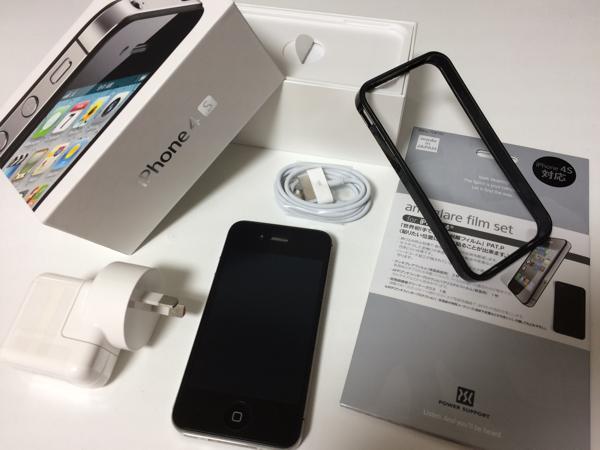 中古 Apple iPhone 4S 64GB ブラック SIMフリー 美品