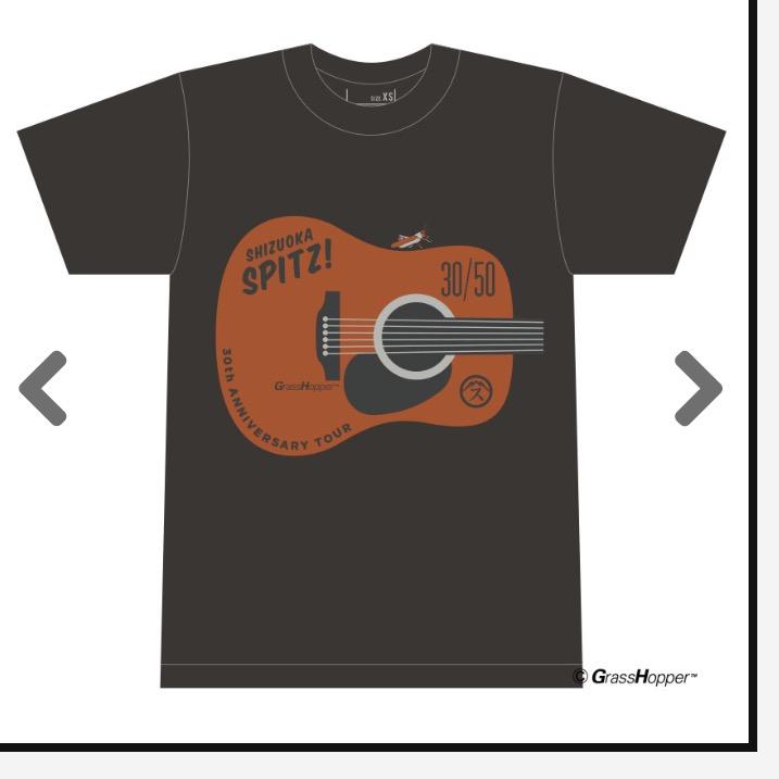 SPITZ / スピッツ 30周年 ツアー2017 THIRTY30FIFTY50 会場限定 30/50 ご当地Tシャツ 武道館/M/未開封新品 ライブグッズの画像