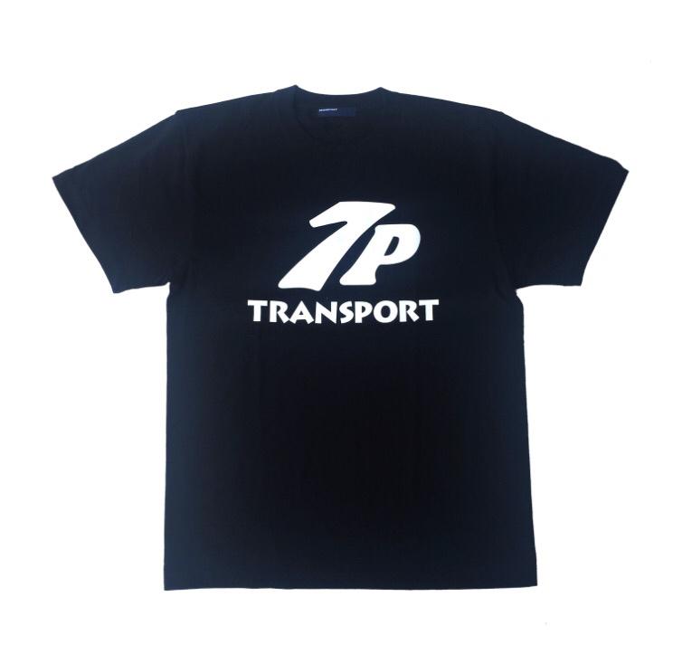 TRANSPORT 17ss 7P ロゴTee ブラック L トランスポート Tシャツ ローレル tspt 月桂樹