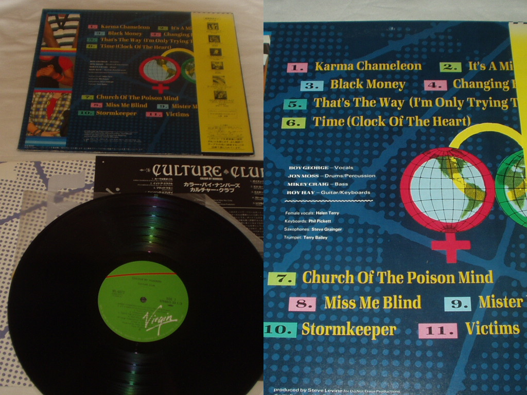 ◆Culture Club Colour by Numbers LP 帯付 国内盤 レコード カルチャークラブ ボーイジョージ_画像2