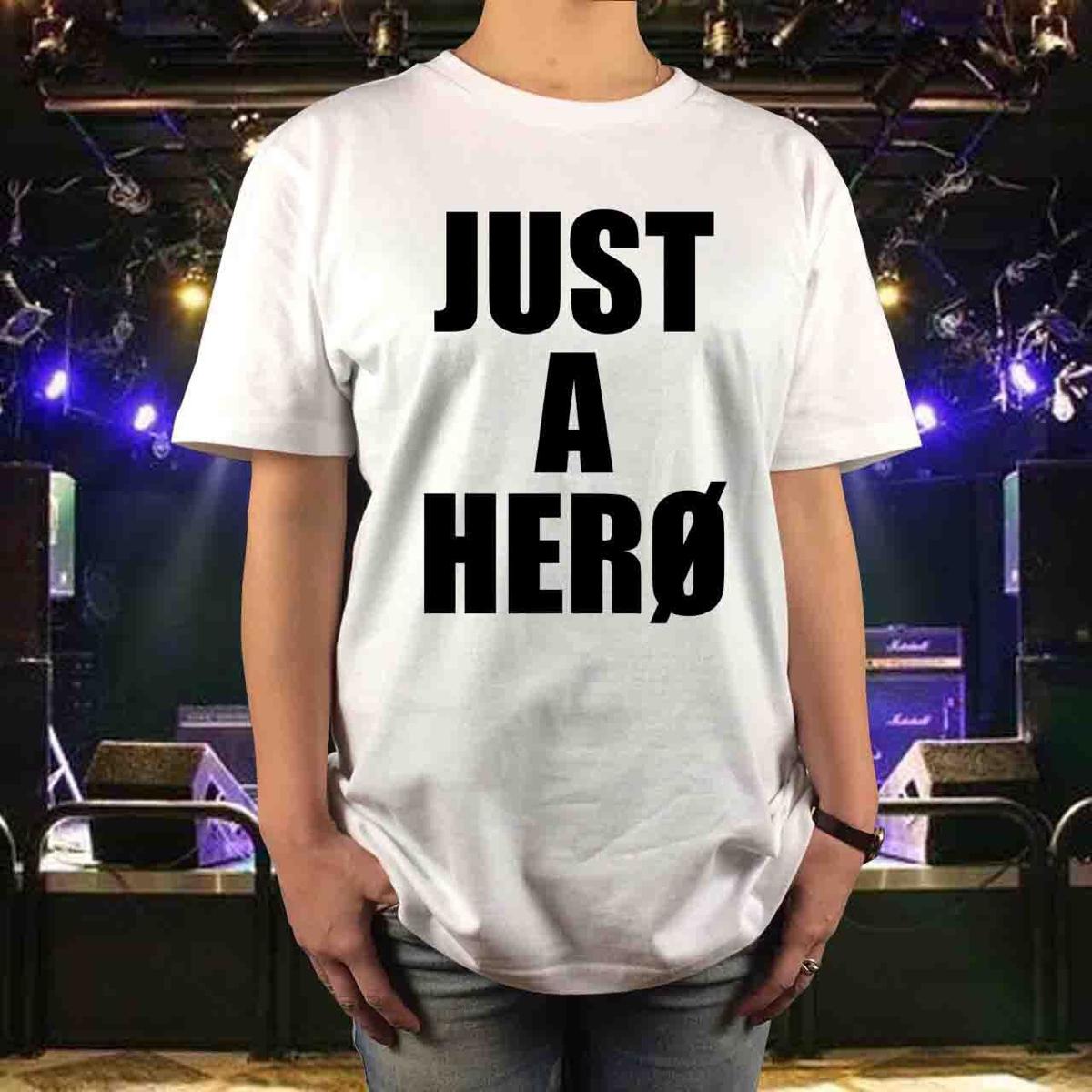 新品 BOOWY ボウイ メッセージ Tシャツ JUST A HERO ジャストアヒーロー サイズS,M,L,XL 氷室京介 布袋寅泰 メンズ レディース GIGS ライブグッズの画像