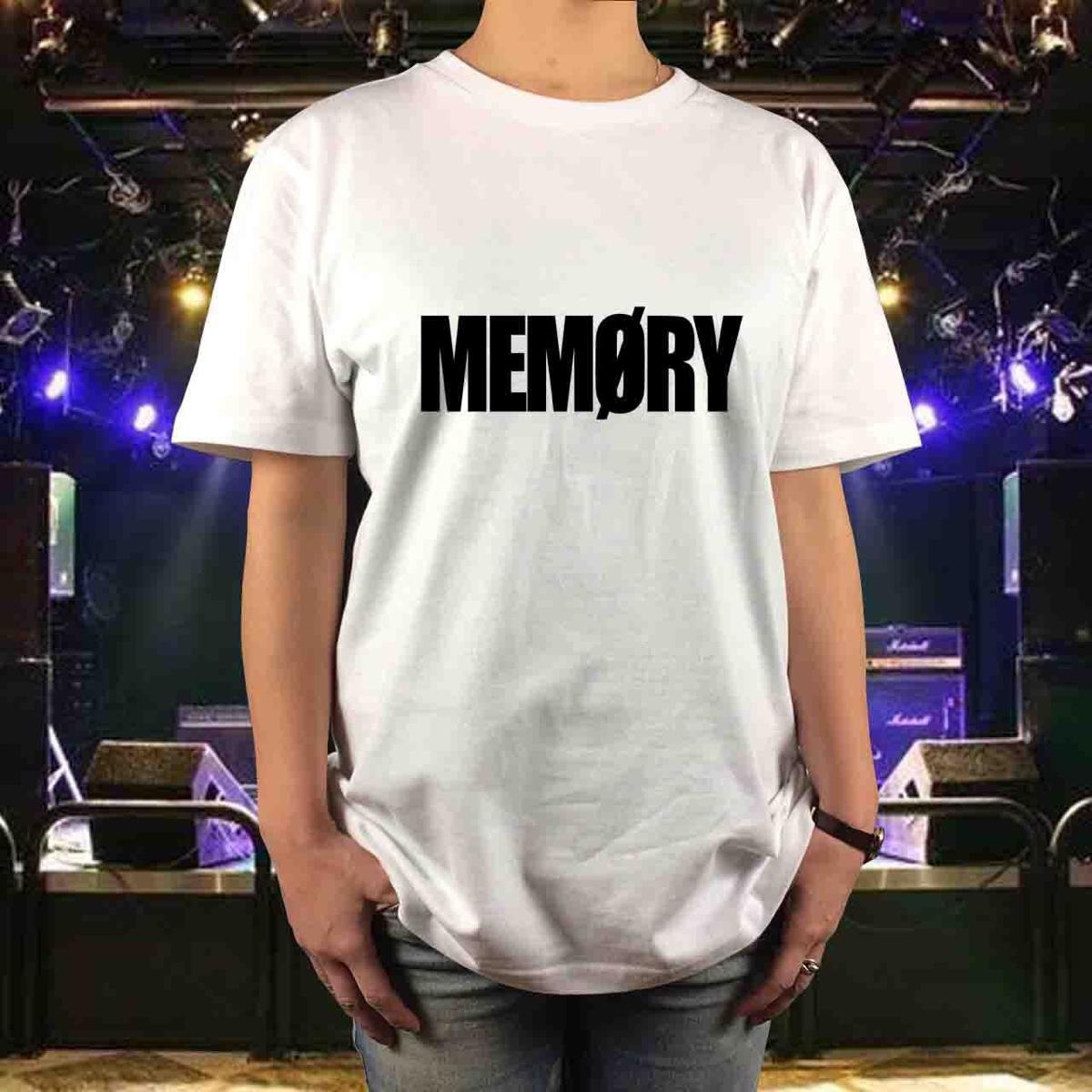 新品 BOOWY ボウイ メッセージTシャツ MEMORY メモリー サイズS,M,L,XL 氷室京介 布袋寅泰 メンズ レディース ユニセックス GIGS Jロック ライブグッズの画像