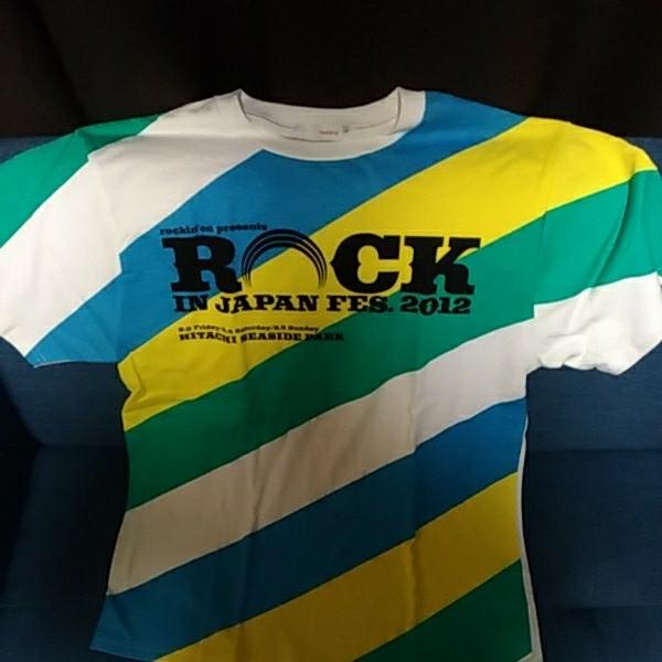 未使用 ロッキンジャパンフェス 2012 Tシャツ Lサイズ ROCK IN JAPAN FES ロッキン ライブグッズの画像