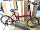 KHS F-20T レッド 折りたたみ自転車 ミニベロ ケイエイチエス フォールディングバイク 展示品 美品 滋賀県大津市より