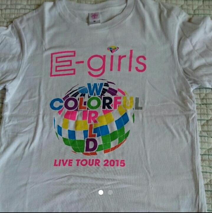 E-girls CW ツアーTシャツ ライブグッズの画像