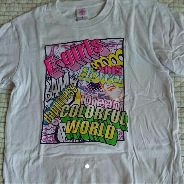 E-girls ツアーTシャツ colorfulworld ライブグッズの画像