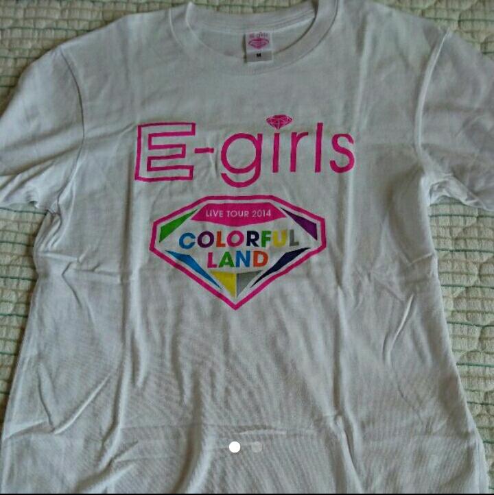 E-girls Tシャツ colorful land ライブグッズの画像