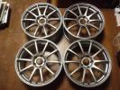 中古 ADVAN Racing RS アドバン レーシング RS 18インチ 7.5JJ 5穴 CD114.3 インセット48mm シルバー 4本セット