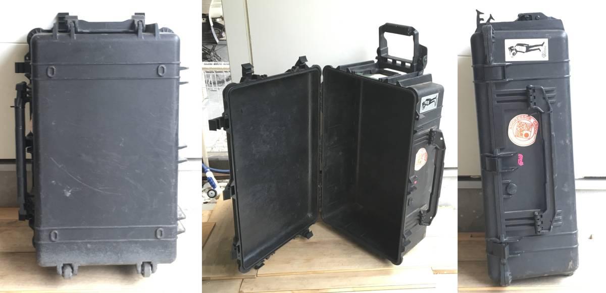 PELICAN 1650 CASE 大型ボックス 中古 ステッカー ペリカン 米軍放出品_画像2