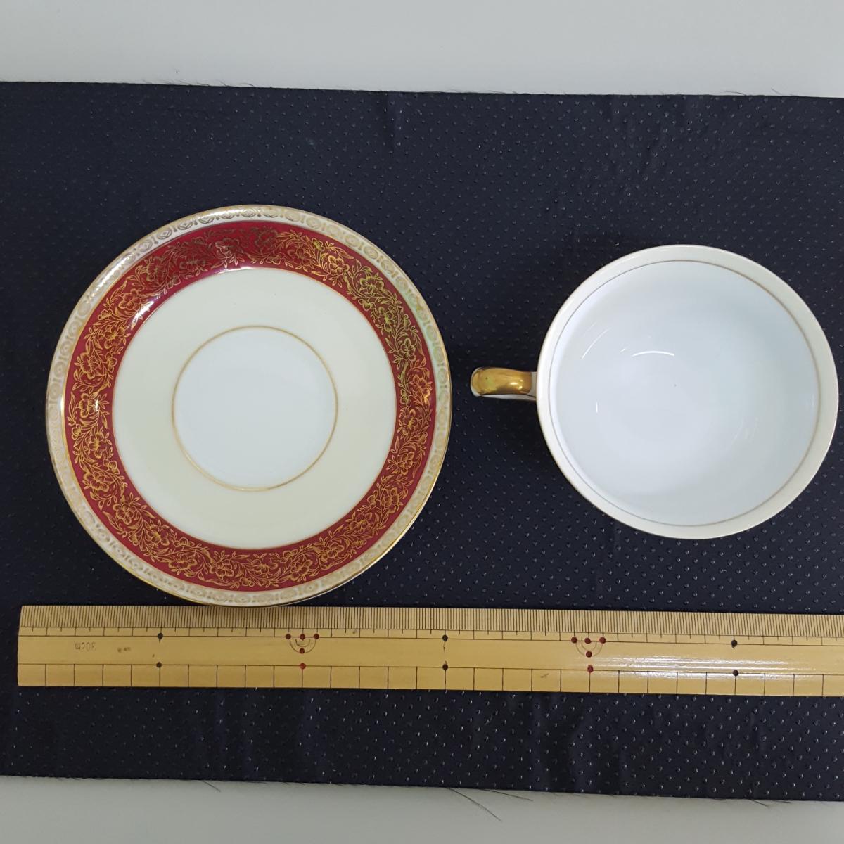 山口陶器 JYOTO 陶器 CHINA カップ&ソーサー 昭和レトロ 金彩_画像3